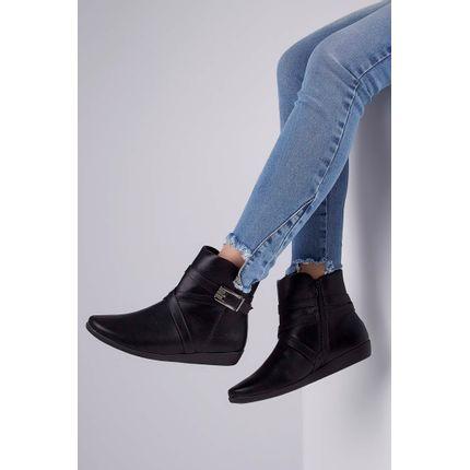Bota-Ankle-Boot-Comfortflex-Fivela-Preto