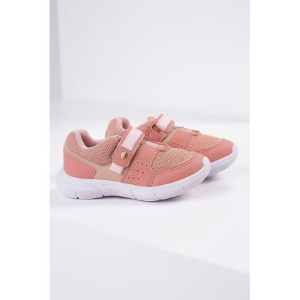 Tenis-Casual-Infantil-Camin-Nylon-Velcro-Rosa-