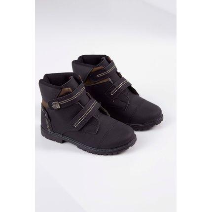 Bota-Coturno-Infantil-Camin-Tratorado-Velcro-Preto-