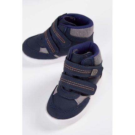 Tenis-Cano-Alto-Infantil-Camin-Velcro-Marinho-