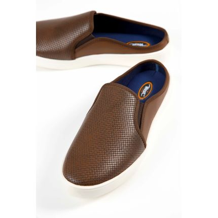Mule-Masculino-Slip-On-West-Line-Marrom-