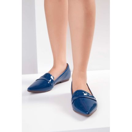 Sapatilha-Slipper-Gaila-Verniz-Azul-