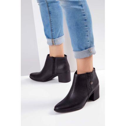 90a82bb23 Bota-Ankle-Boot-Bottero-Couro-Croco-Tanis-Preto-