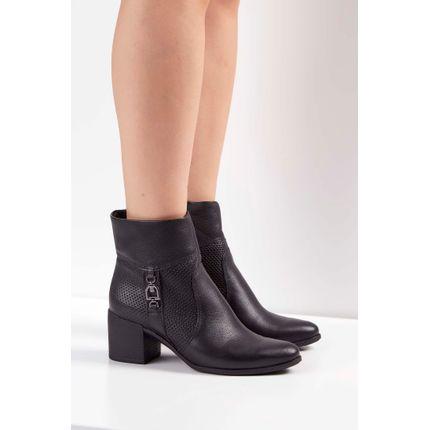 Bota-Ankle-Boot-Bottero-Couro-Militar-Preto-