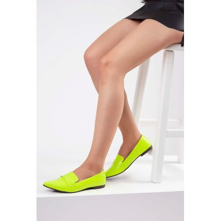 Sapatilha-Slipper-Gaila-Verniz-Neon-Amarelo-