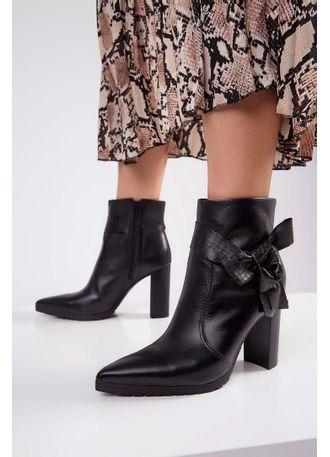 Bota-Ankle-Boot-Bottero-Couro-Tanino-Preto-
