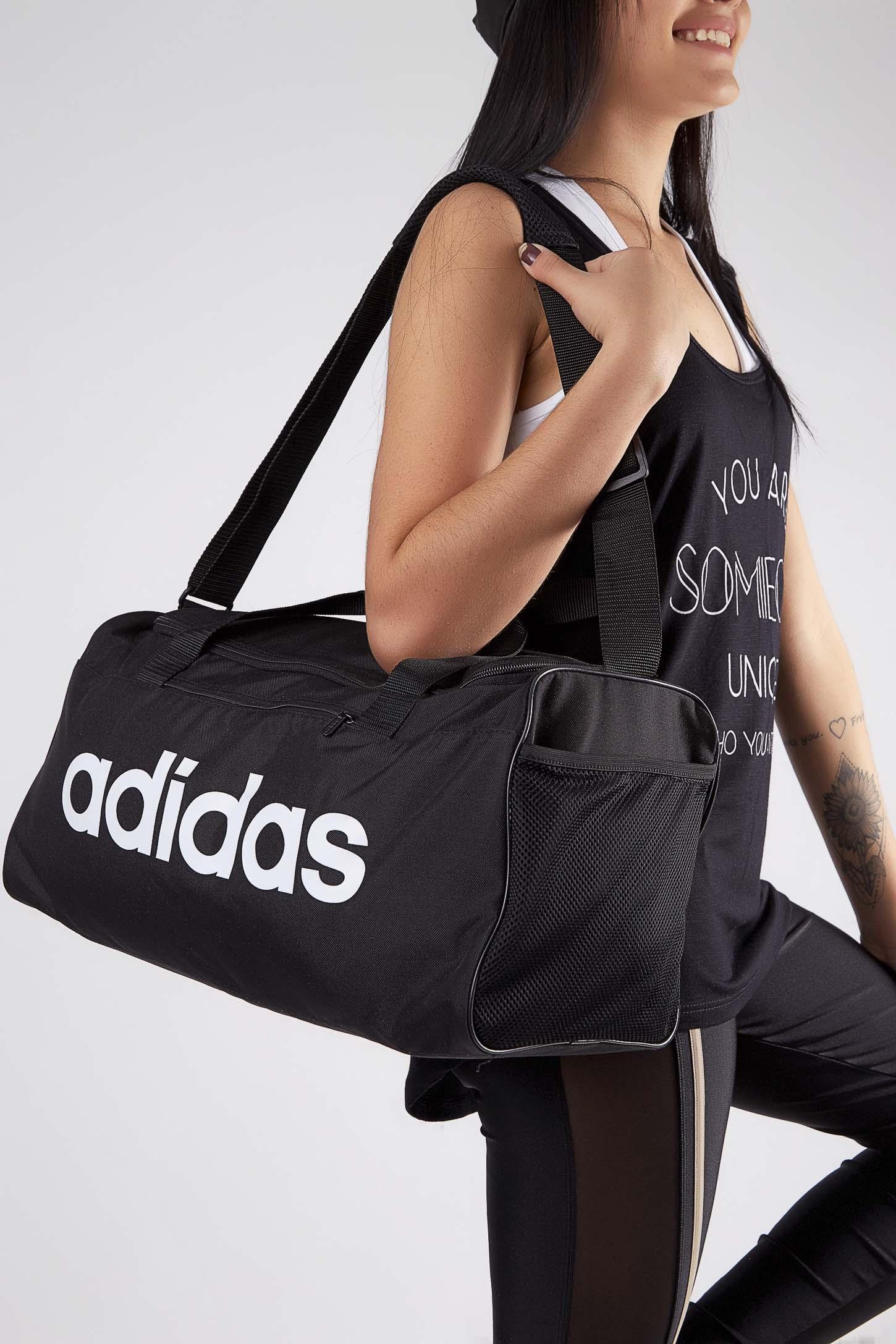 Bolsa-Mala-Adidas-Linear-Core-Duffel-Preto-