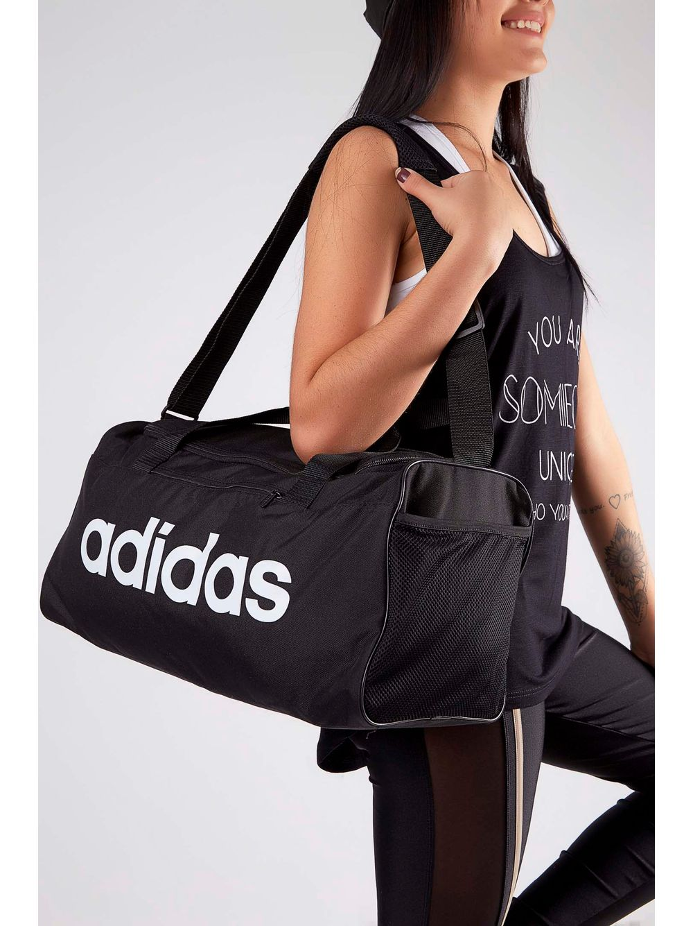 ed605bb7b Previous. Bolsa-Mala-Adidas-Linear-Core-Duffel-Preto ...