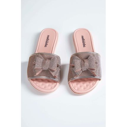 Chinelo-Slide-Infantil-Molekinha-Laco-Lurex-Rosa-