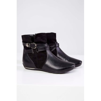 Bota-Ankle-Boot-Comfortflex-Fivela-Preto-
