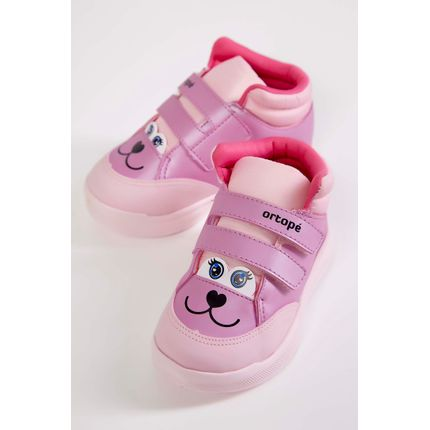 Tenis-Cano-Alto-Infantil-Ortope-Pink-