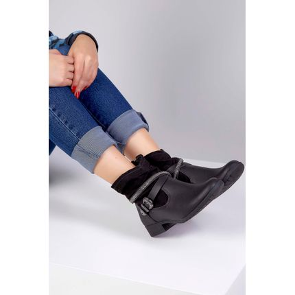 Bota-Ankle-Boot-Dakota-Fivela-Preto-