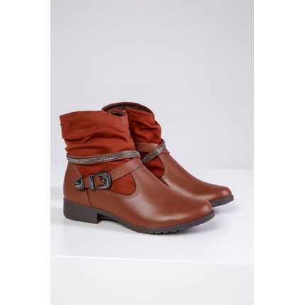 Bota-Ankle-Boot-Dakota-Fivela-Castanho-