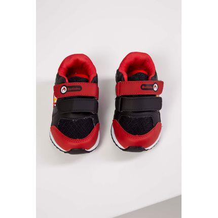 Tenis-Casual-Infantil-Botinho-Tratorado-Velcro-Preto