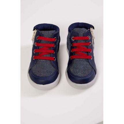 Bota-Casual-Infantil-Botinho-Jeans-Elastico-Azul