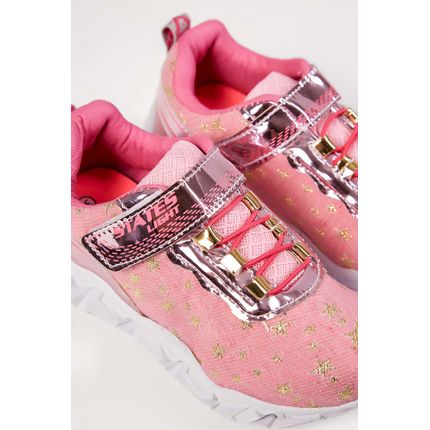 Tenis-Casual-Infantil-States-Light-Led-Rosa