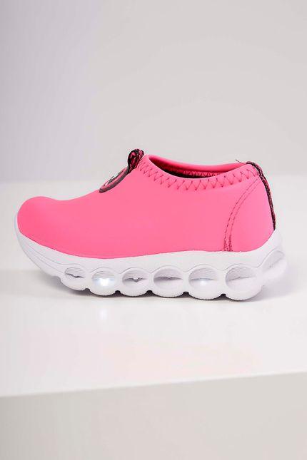 Tenis-Casual-Infantil-Botinho-Lycra-Led-Pink