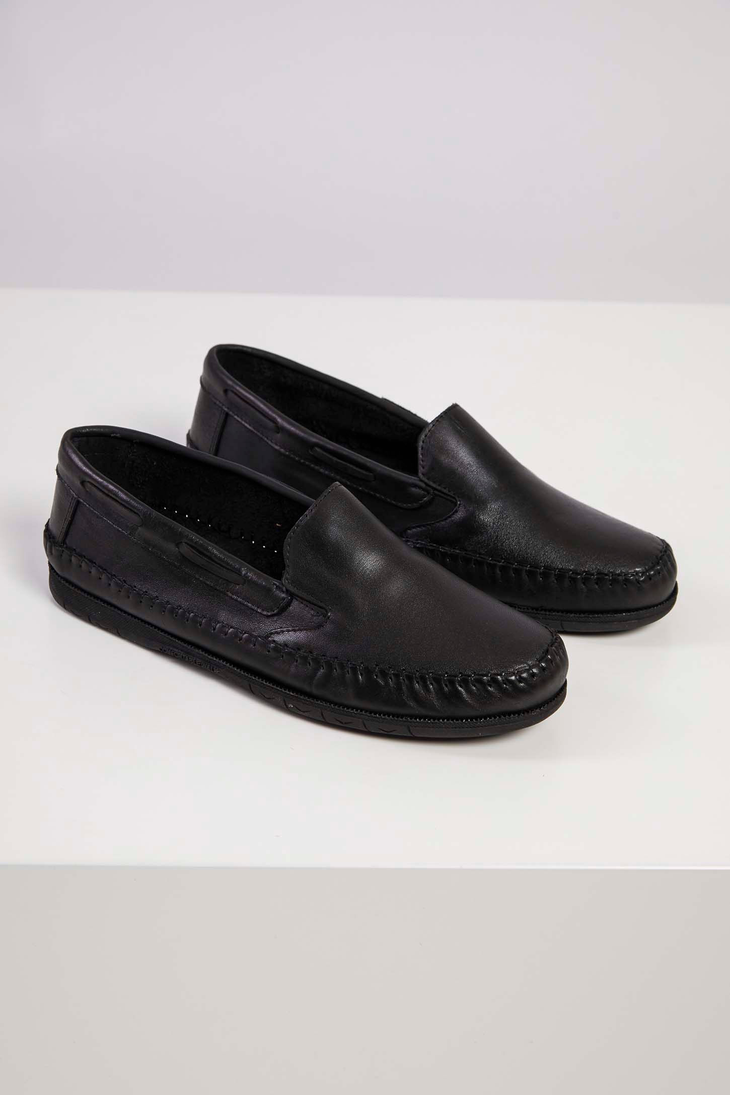 Sapato-Mocassim-Masculino-Couro-Granado-Preto-