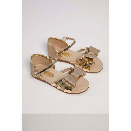 Sandalia-Rasteira-Molekinha-Laco-Glamour-Ouro