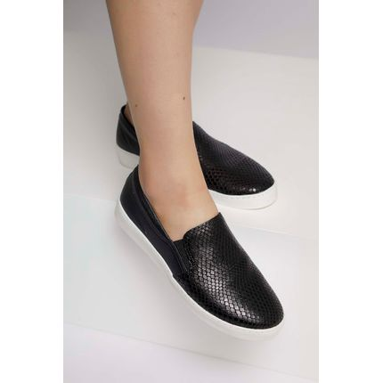 Tenis-Slip-On-Bottero-Animal-Print-Cobra-Preto-
