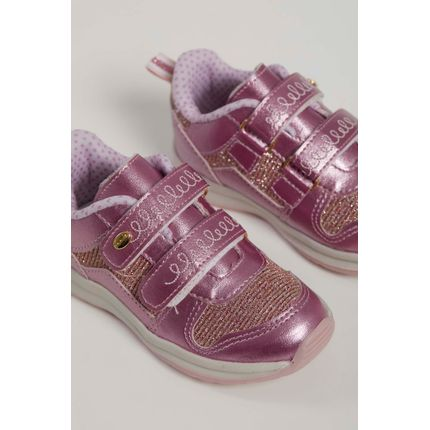 Tenis-Casual-Infantil-Camin-1108-808-Glitter-Rosa-