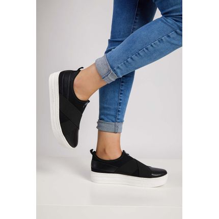 Tenis-Casual-Feminino-Slip-On-Via-Marte-Preto