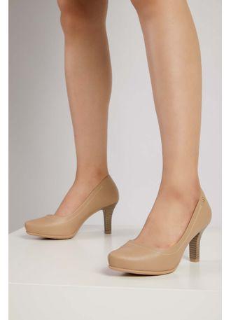 Sapato-Feminino-Salto-Medio-Comfortflex-Nude