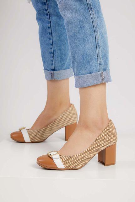 Sapato-Feminino-Conforto-Modare-Caramelo