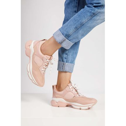 Tenis-Casual-Dad-Sneakers-Dakota-Flatform-Rosa-Claro