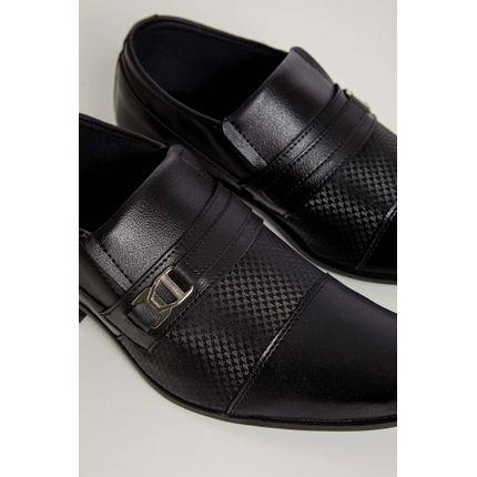 Sapato-Social-Loafer-Fox-Fivela-Preto