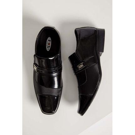 Sapato-Social-Loafer-Fox-Fivela-Verniz-Preto
