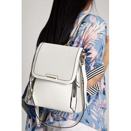 Mochila-Casual-Wj-Handbags-Corte-A-Laser-Branco