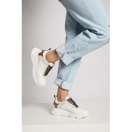 Tenis-Dad-Sneaker-Via-Marte-Animal-Print-Branco