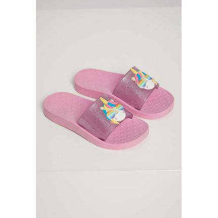 Chinelo-Slide-Infantil-Menina-Luelua-Unicornio-Rosa