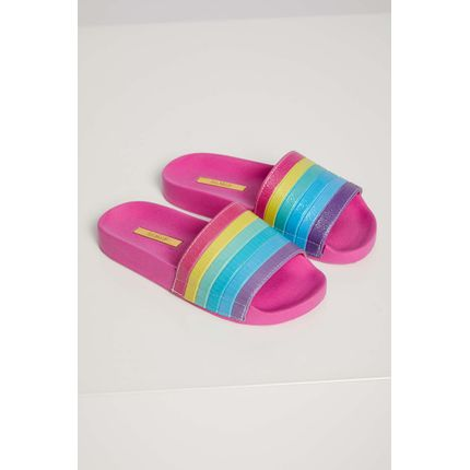 Chinelo-Slide-Infantil-Menina-Luelua-Arco-Iris-Pink