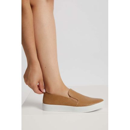 Tenis-Casual-Feminino-Slip-On-Via-Uno-Caramelo