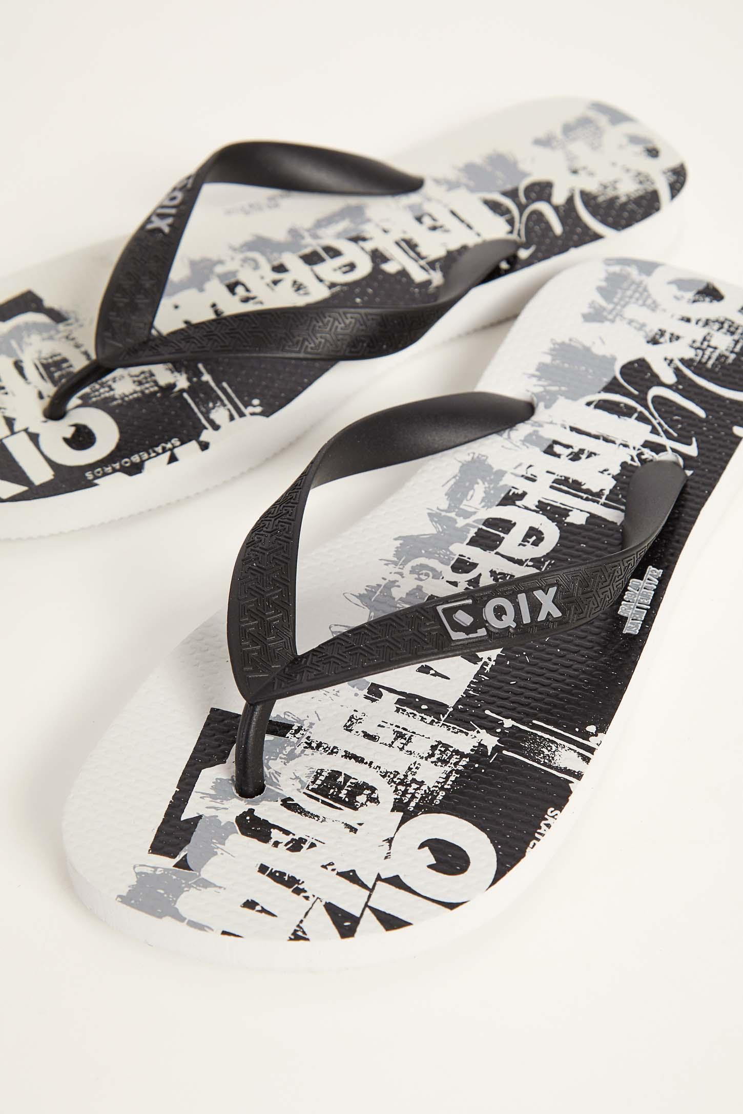 Chinelo-De-Dedo-Masculino-Qix-Skateboards-Branco