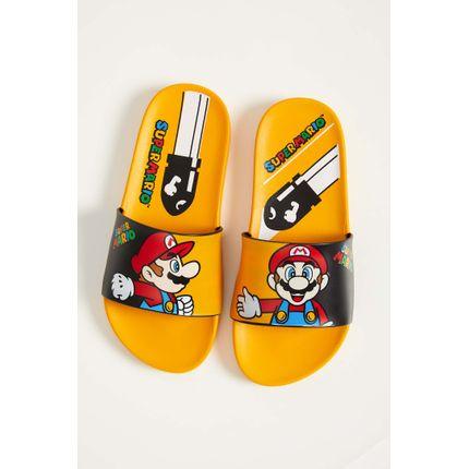 Chinelo-Slide-Super-Mario-Grendene-Preto