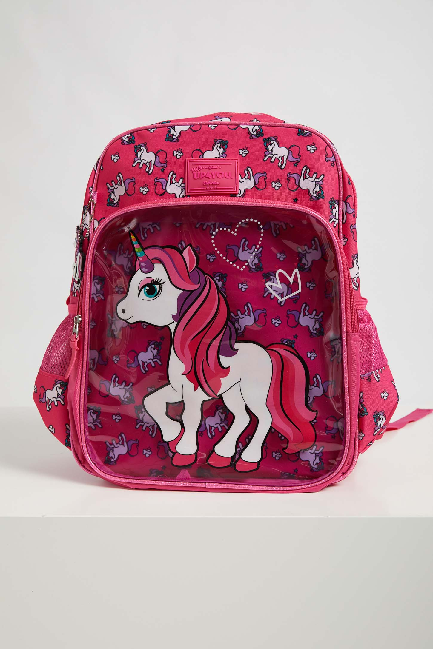 Mochila-Escolar-Infantil-Menina-Luxcel-Unicornio-Pink
