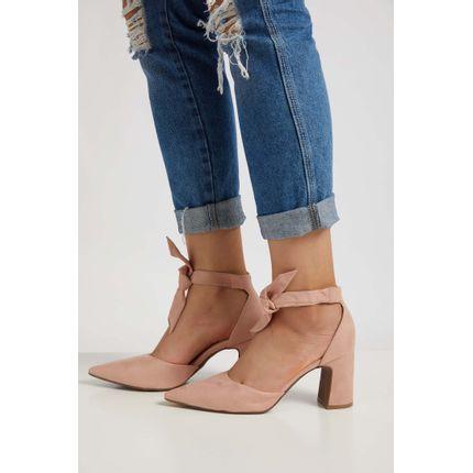 Sapato-Scarpin-Feminino-Bebece-Amarracao-Rosa-Claro