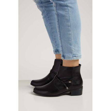 Bota-Casual-Feminina-Ankle-Boot-Comfortflex-Preto