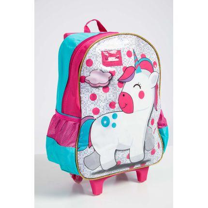 Mochila-Escolar-Infantil-Menina-Up4you-Unicornio-Verde