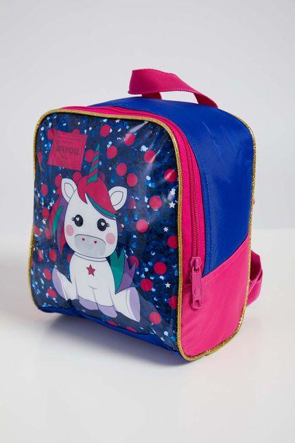 Lancheira-Escolar-Infantil-Menina-Up4you-Unicornio-Azul