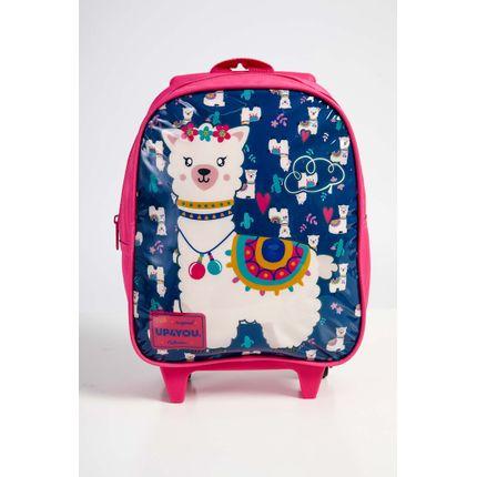 Mochila-Escolar-Infantil-Menina-Up4you-Lhama-Pink