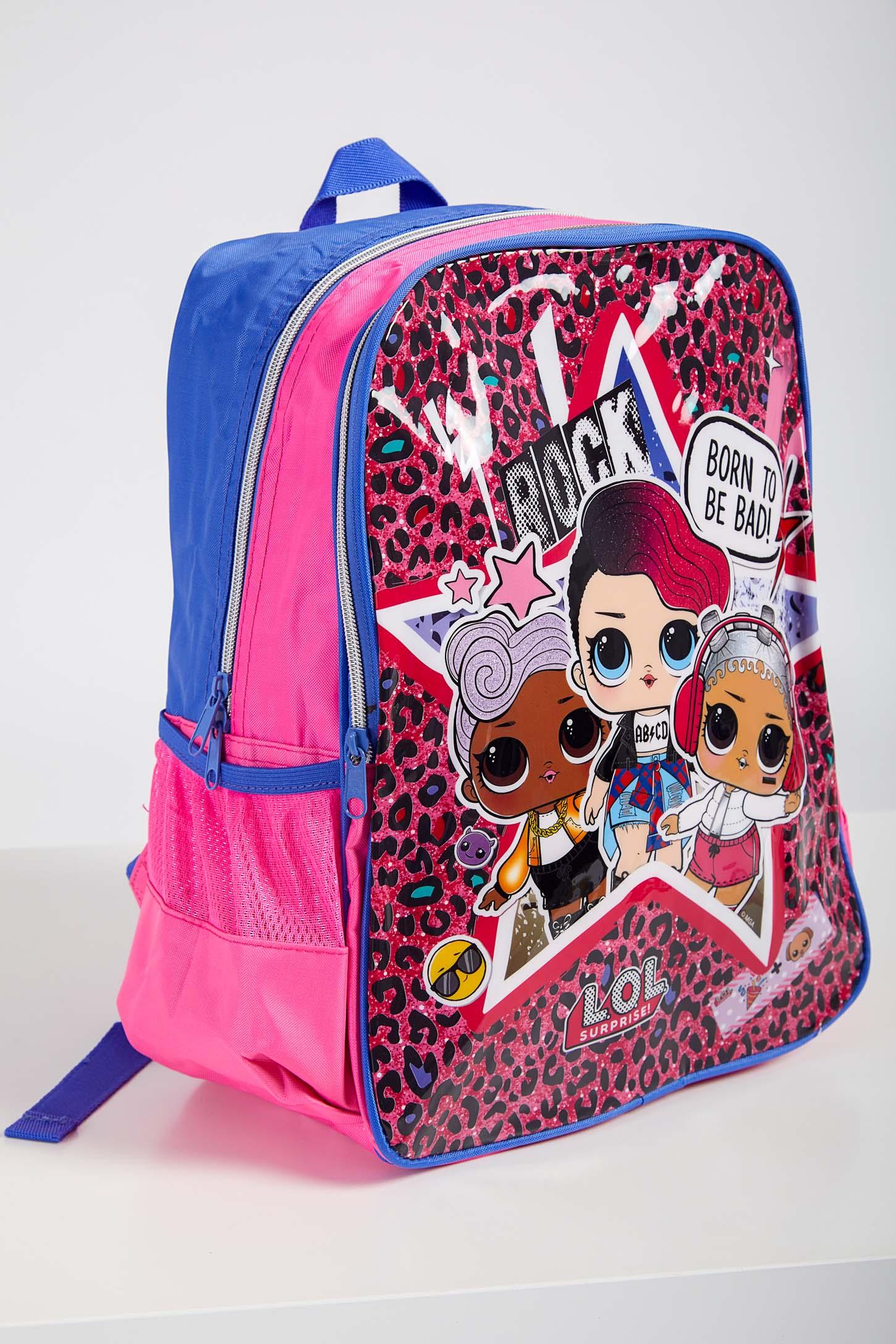 Mochila-Escolar-Infantil-Menina-Lol-Luxcel-Pink