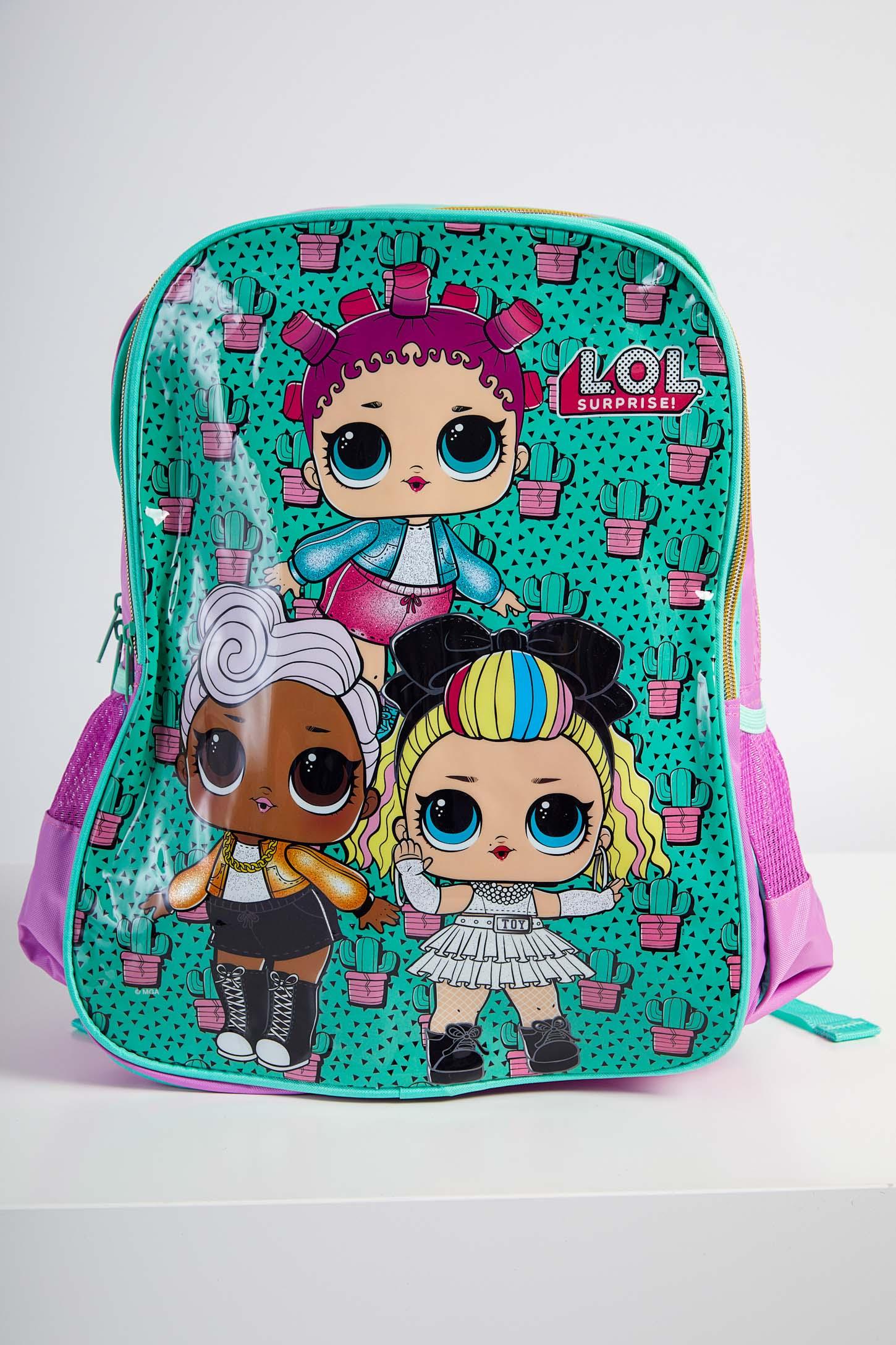 Mochila-Escolar-Infantil-Menina-Lol-Luxcel-Verde