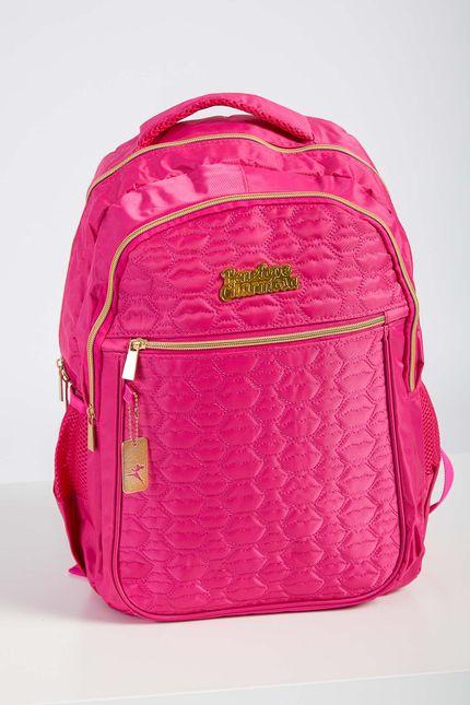 Mochila-Escolar-Juvenil-Feminina-Luxcel-Pink