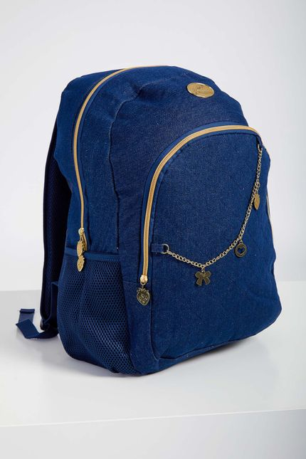 Mochila-Escolar-Juvenil-Menina-Luxcel-Azul