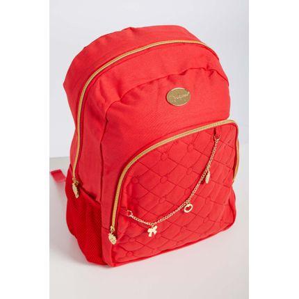 Mochila-Escolar-Juvenil-Menina-Luxcel-Vermelho