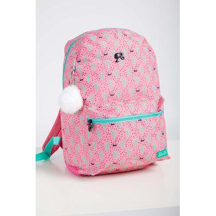 Mochila-Escolar-Juvenil-Menina-Luxcel-Barbie-Rosa